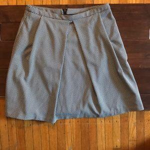 Anne Klein Checkered Pleated Skirt Size 4